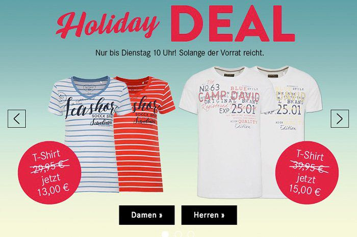 4 Camp David David & Soccx T Shirts ab je 13€