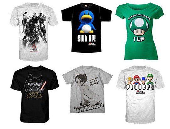 Gaming T Shirts von Nintendo, Sony, Super Mario und Co. für je 7,99€