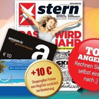 Knaller! 6 Ausgaben vom stern für 18,90€ + 10€ Gutschein & 10 Rabatt bei Bankeinzug + 100€ Holidaycheck Gutschein