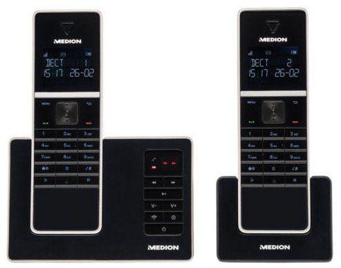 2er Set Medion Life P63040 DECT Telefone mit Anrufbeantworter für 39,99€ (statt 50€)