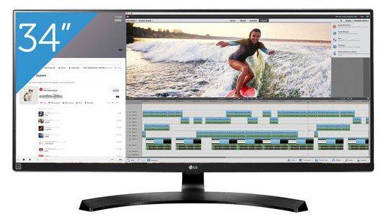 LG 34UB88 B   34 Zoll UWQHD Monitor mit FreeSync für 558,90€ (statt 664€)