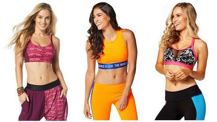 Zumba Fitness Kleidung bei vente privee   z.B. Sport BHs ab 12,90€ oder Polohemden ab 10,90€