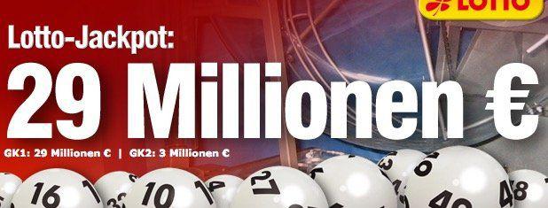 Lottobay 5€ Gutschein mit nur 5€ MBW   Lotto für 0,35€ spielen (29 Mio. Jackpot!)