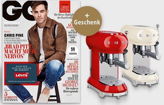 GQ Jahresabo + Smeg Espresso Maschine für 255,90€ (statt 388€)