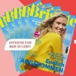 5 Ausgaben der Brigitte für 10,50€ + 10€ Amazon Gutschein