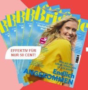 5 Ausgaben der Brigitte für 10,50€ inkl. 10€ Amazon Gutschein