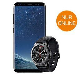 Samsung Galaxy S8 + Samsung Gear S3 Smartwatch für 149€ + Vodafone Flat mit 4GB für 34,99€ mtl.