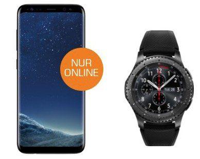 VORBEI! Samsung Galaxy S8 + Samsung Gear S3 Smartwatch + Vodafone Flat mit 2GB für 31,99€ mtl.