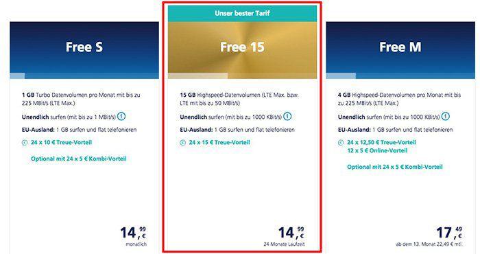 Für o2 Kunden: o2 Free 15GB LTE Tarif für nur 14,99€ bei Vertragsverlängerung
