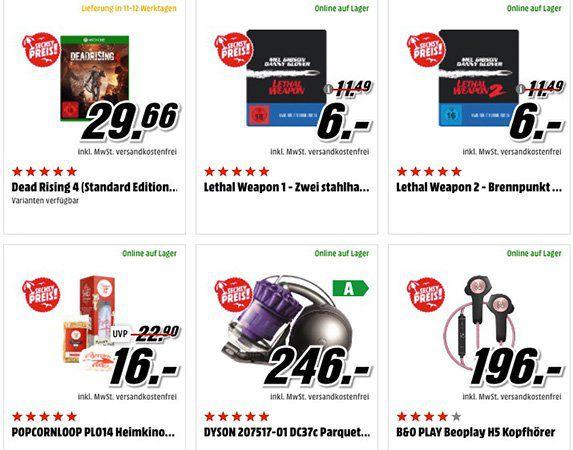 Heiße Sommerpreise bei Media Markt   z.B. Dyson DC 37c Parquet Staubsauger für 246€ (statt 277€)
