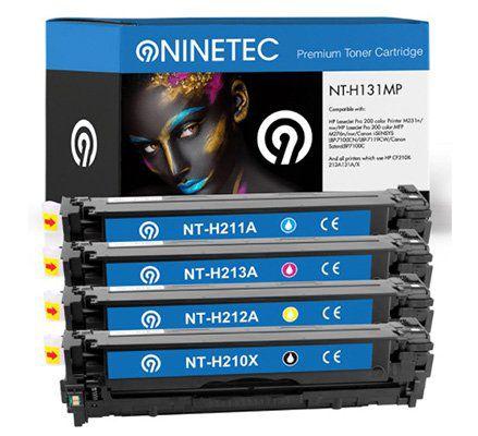 4er Sets NINETEC Toner Kartuschen kompatibel zu Brother, HP, Samsung für je 69,99€
