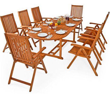 Deuba Sitzgruppe Moreno mit 8 Stühlen für 339,96€ (statt 480€)