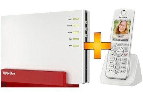 Schnell! AVM FRITZ!Box 7580 + C4 Schnurlos Telefon für 229€ (statt 293€)
