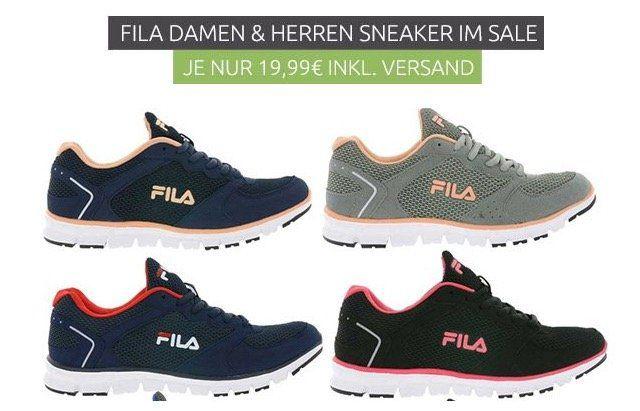 Fila Comet Run Low Laufschuhe für Damen und Herren für je 19,99€ (statt 35€)