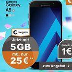 Telekom Allnet-Flat mit 5GB + Samsung Galaxy A5 (2017) für 25€ mtl.