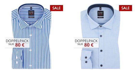 Marken Hemden im Doppelpack bei Hirmer   z.B. 2er GANT Hemden für 120€ oder 2er Tommy Hilfiger für 70€