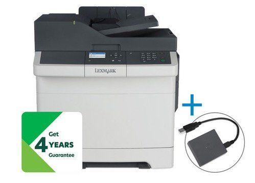 Lexmark CX310dn Multifunktions Farblaserdrucker + WLAN Druckserver mit NFC für 158,90€ (statt 229€)