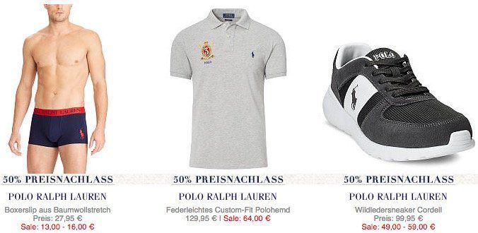 Ralph Lauren Sale bis  50%   z.B. Wildleder Sneaker ab 59€ (statt 74€)