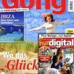 """13 Ausgaben der """"Gong"""" + """"nur digital"""" komplett kostenlos"""