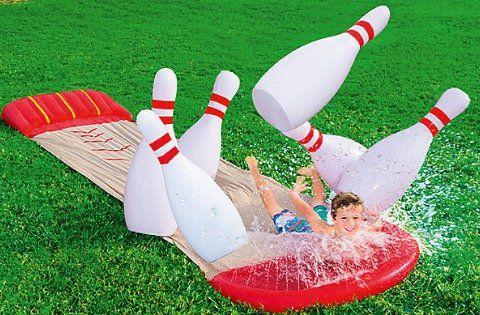 Bowling Wasserrutsche Slide n Splash + 6 Pins für 22,94€ (statt 50€) dank 15% Rabattaktion