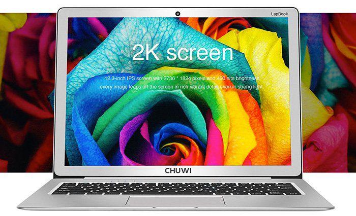 Chuwi LapBook   12,3 Zoll Notebook mit Metall Gehäuse für 255,51€