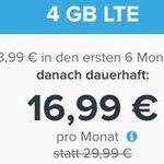 o2 LTE Tarife mit 3GB oder 4GB und Tele/SMS-Flat + car2go Gutschein – nur 6 Monate Laufzeit