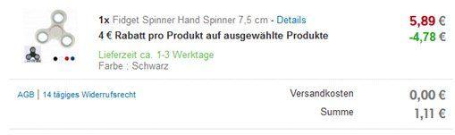 Fidget Spinner für je nur 1,11€   Versand aus Deutschland!