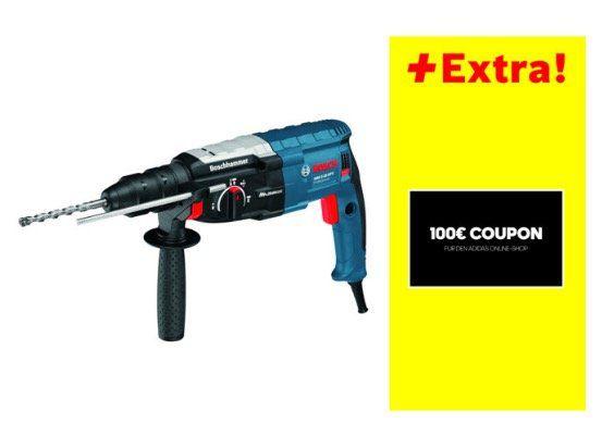 Knaller! Bosch GBH 2 28 DFV Bohrhammer mit SDS Plus für 225,22€ (statt 294€) + 100€ adidas Gutschein