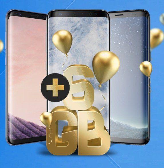 Samsung Galaxy S8 für 1€ + o2 Free M mit 6GB LTE für 39,99€ mtl.   Sky Ticket für 6 Monate gratis dazu!