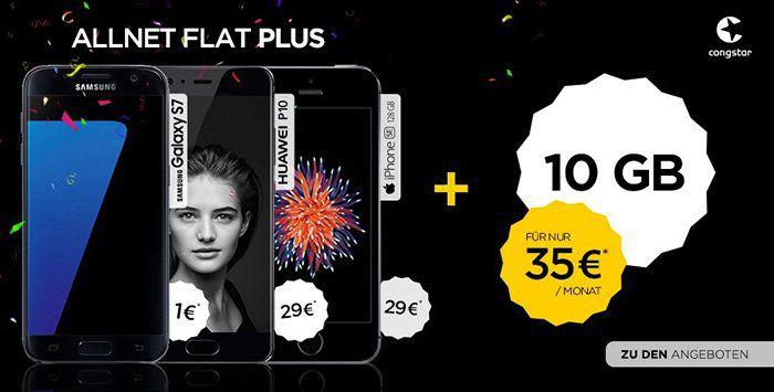 Telekom Allnet Flat mit 10GB für 35€ mtl. + Samsung Galaxy S7 + Lautsprecher nur 1€