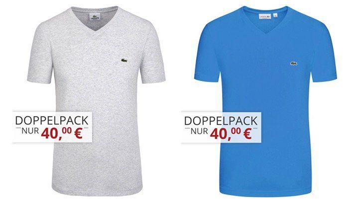 2er Pack Lacoste T Shirts für 45,95€ (statt 62€)