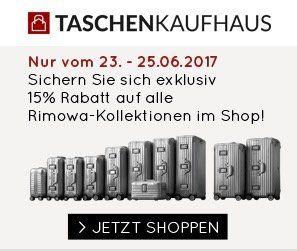 15% Rabatt auf Rimowa Koffer + weitere 5% bei Vorkasse   z.B. Salsa Air Multiwheel Trolley 77 für 354,49€ (statt 449€)