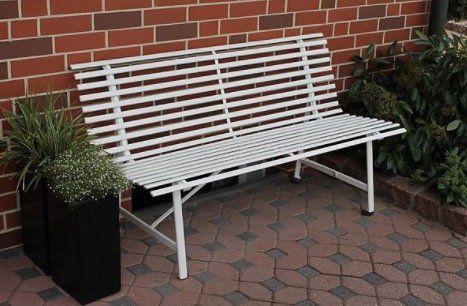 Leco Stahl Gartenbank 2 Sitzer mit 150cm für 56,69€ (statt 76€)