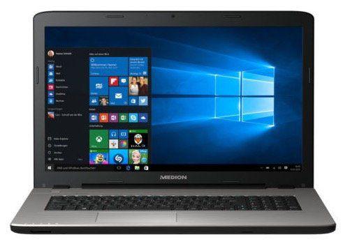 Medion Akoya E7424   17,3 Zoll Notebook mit 128GB SSD + Win 10 für 377€ (statt 480€)