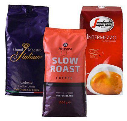 3kg Kaffeebohnen Probierpaket stark und kräftig für 31,99€ (statt 36€)