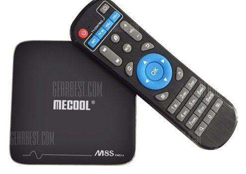 Mecool M8S Pro+ TV Box mit Android 7.1 für 33,16€ (statt 49€)
