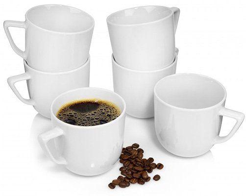 6er Set Rosenthal Kaffeetassen Bianchi aus Porzellan für 14,99€ (statt 25€)