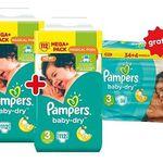 Günstige Pampers Mega-Packs bei Netto – z.B. 262 Baby-Dry Windeln für 40,86€ (statt 54€)