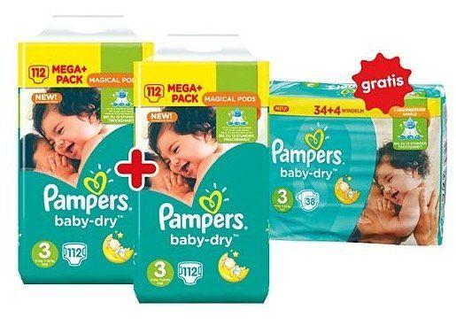 Günstige Pampers Mega Packs bei Netto   z.B. 262 Baby Dry Windeln für 40,86€ (statt 54€)