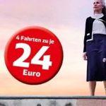 Deutsche Bahn Sommer-Tickets – 4 Fahrten ab 76€ für junge Leute