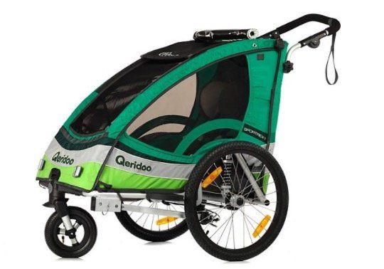 Qeridoo Sportrex1 Kinderfahrradanhänger 2017er Modell für 300,79€ (statt 349€)