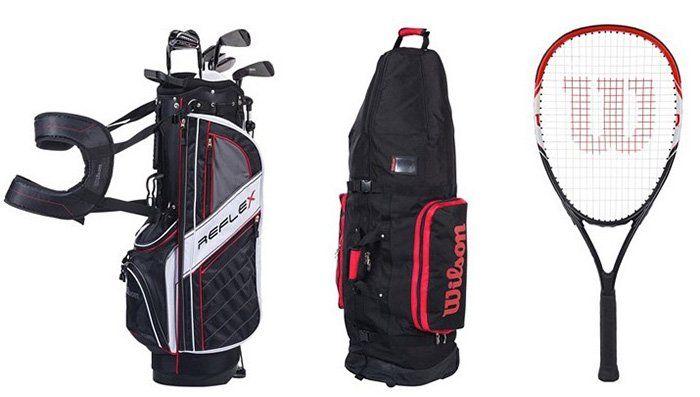 Wilson Golf, Tennis und Badminton Sale bei vente privee   z.B. Travel Cover Golfbag ab 57€ (statt 79€)