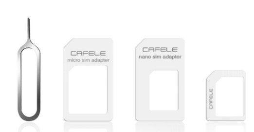 Cafele 4 in 1 Sim Karten Set für 0,74€