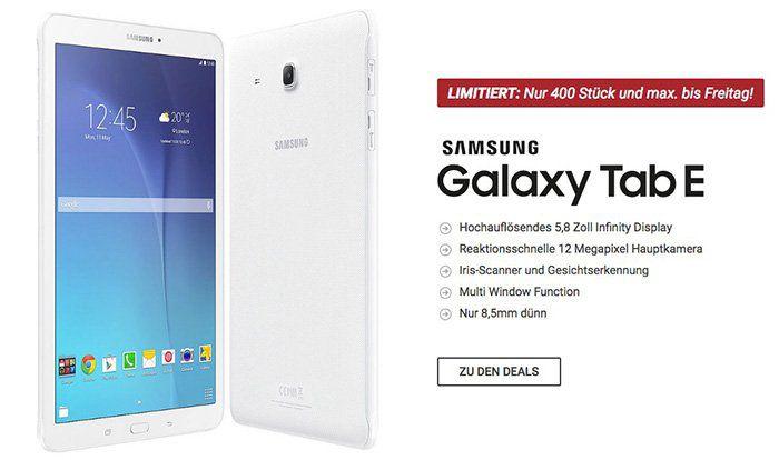 Samsung Galaxy Tab E für 4,95€ + 5GB LTE im Vodafone Netz oder 10GB LTE im Telekom Netz