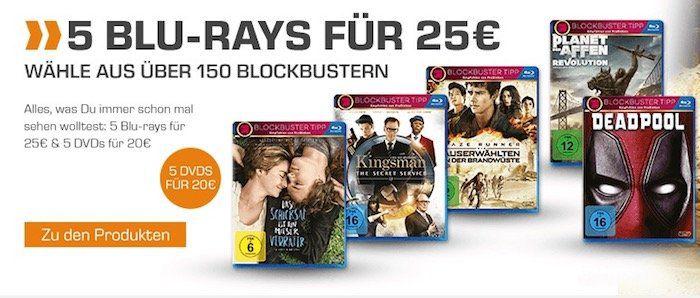 Saturn: 5 Blu rays für 25€ + VSK