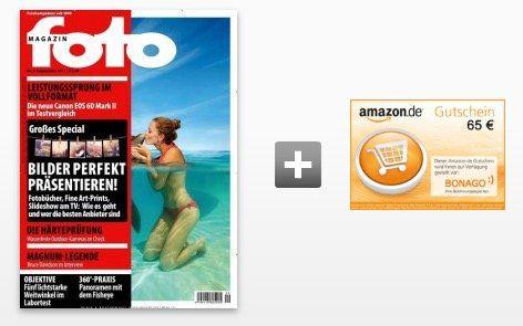 12 Ausgaben vom foto Magazin für 73,20€ + 65€ Gutschein