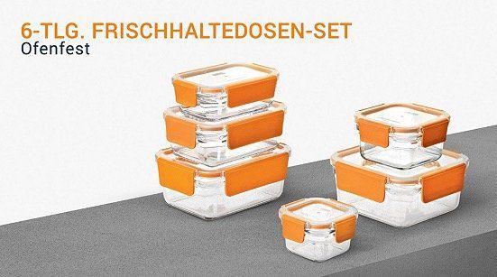 TOP! Glasslock Sale bei vente privee   z.B. 6er Set Frischhaltedosen aus Glas für 39€ (statt 52€)