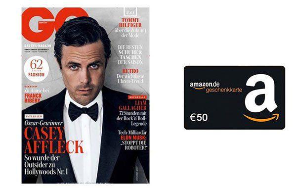 GQ Jahresabo für 57€ + 50€ Amazon Gutschein