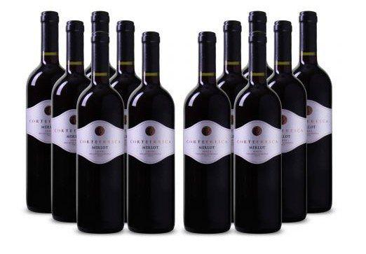 12 Flaschen Merlot delle Venezie IGT   Cortefresca (2016) für 39,99€ (statt 68€)