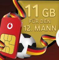 Gratis Vodafone CallYa Prepaidkarte anfordern + 11GB Datenvolumen gratis (nach Aufladung)